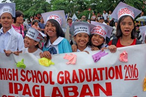 "At the ""People's SONA"" protest, students are opposed to the K-12. Photo by JL Burgos"