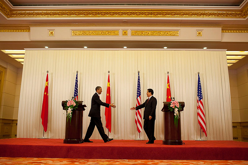 US President Barack Obama and Chinese President Hu Jintao. Photo from Wikimedia Commons.