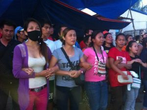 Contractual workers of Nakashin on strike. Photo by KMU-SMR.