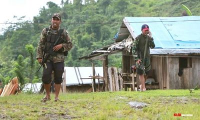 Soldiers occupy a Lumad community in Compostela town. Photo by Kilab Multimedia.