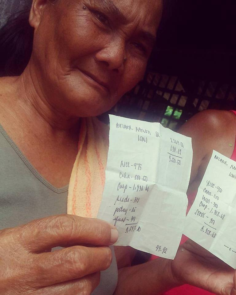 Nanay Lani, a sugar worker, earns only P43 for 15 days during Tiempo Muerto (dead season), made worse by the effects of El Niño. Photo by Nadja de Vera.